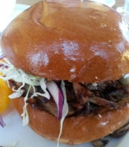 Pulled Pork with Slaw in Brioche Bun